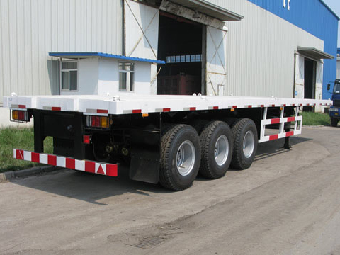 3 Axles 40ft Flatbed Container Trailer