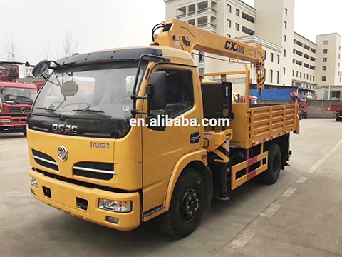 Dongfeng Lorry Truck Mounted Crane With 3.2 Ton Crane
