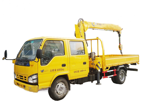 Truck Mounted Crane Isuzu with 3.2 tons Telescopic Boom Truck